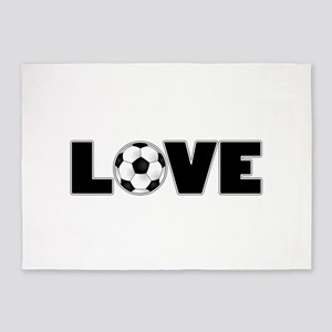 Soccer Love 5'x7'Area Rug