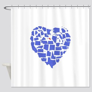 Maryland Heart Shower Curtain