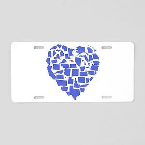 Maryland Heart Aluminum License Plate