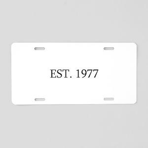 Est 1977 Aluminum License Plate