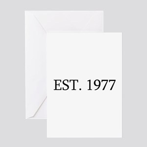Est 1977 Greeting Cards