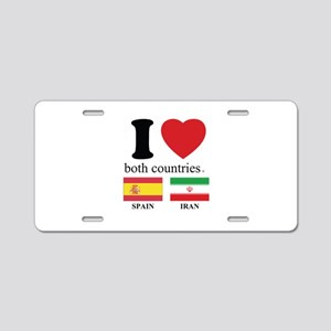 USA-SPAIN Aluminum License Plate