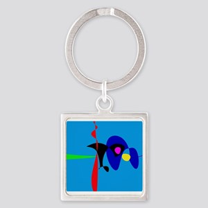 Abstract Expressionism Simple Digital Art Keychain