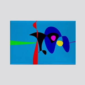 Abstract Expressionism Simple Digital Art Magnets