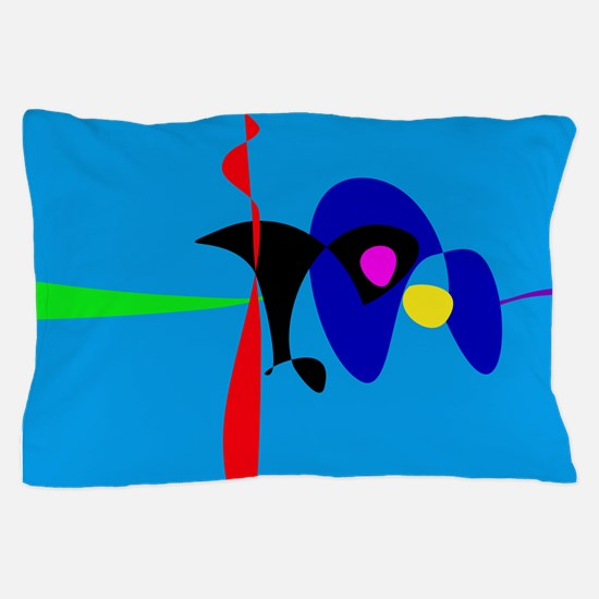 Abstract Expressionism Simple Digital Art Pillow C
