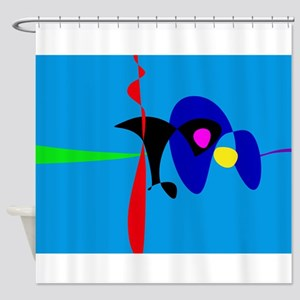 Abstract Expressionism Simple Digital Art Shower C