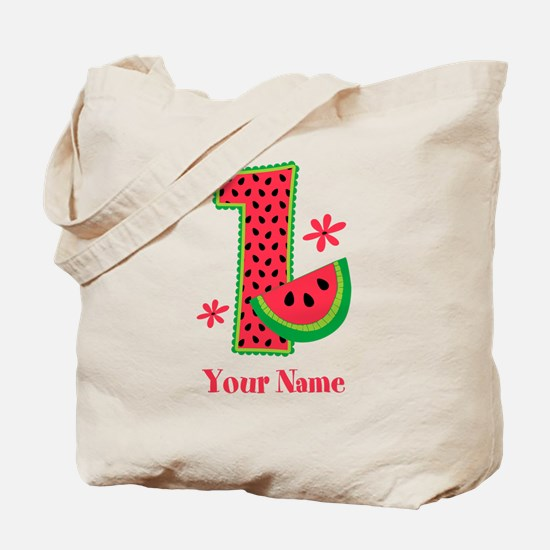 Watermelon 1st Birthday Tote Bag