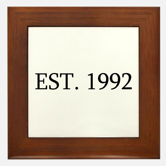 Est 1992 Framed Tile