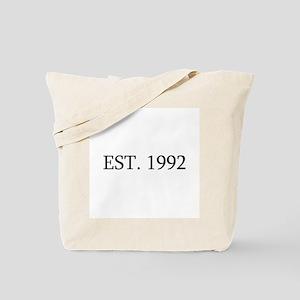 Est 1992 Tote Bag