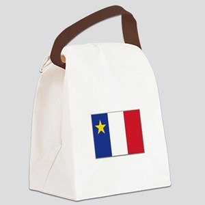 Flag of Acadia Canvas Lunch Bag