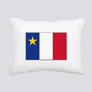 Flag of Acadia Rectangular Canvas Pillow