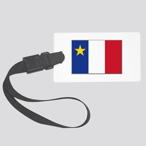 Flag of Acadia Large Luggage Tag