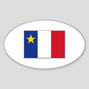 Flag of Acadia Sticker (Oval)