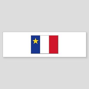 Flag of Acadia Sticker (Bumper)