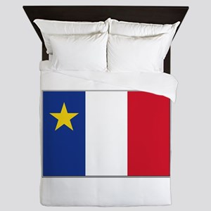 Flag of Acadia Queen Duvet