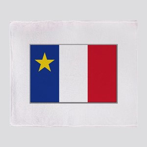 Flag of Acadia Throw Blanket