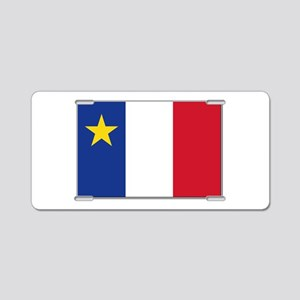 Flag of Acadia Aluminum License Plate