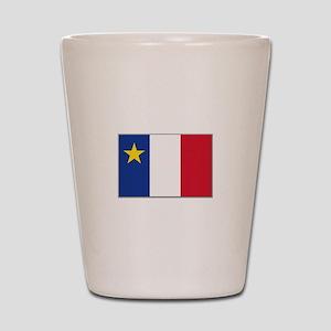 Flag of Acadia Shot Glass