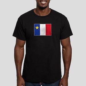 Flag of Acadia Men's Fitted T-Shirt (dark)