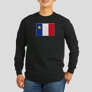 Flag of Acadia Long Sleeve Dark T-Shirt