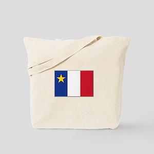 Flag of Acadia Tote Bag