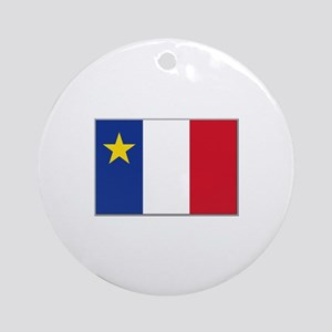 Flag of Acadia Ornament (Round)