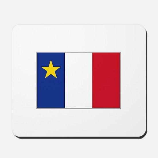 Flag of Acadia Mousepad
