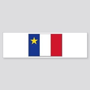 Flag of Acadia Sticker (Bumper)