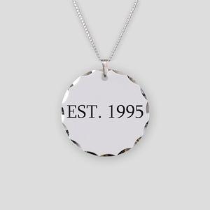 Est 1995 Necklace Circle Charm