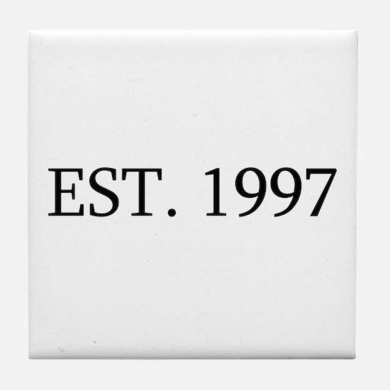 Est 1997 Tile Coaster