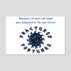 Impair Judgement (Blue) Mini Poster Print