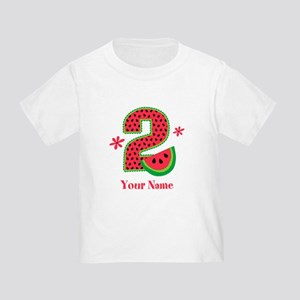 Watermelon 2nd Birthday Toddler T Shirt