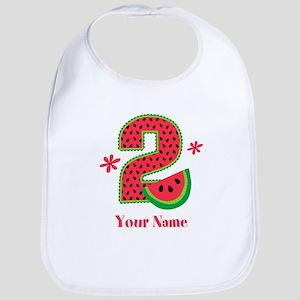 Watermelon 2nd Birthday Bib