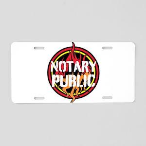 Notary Public Aluminum License Plate