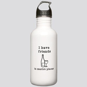 Friends in merlot plac Stainless Water Bottle 1.0L