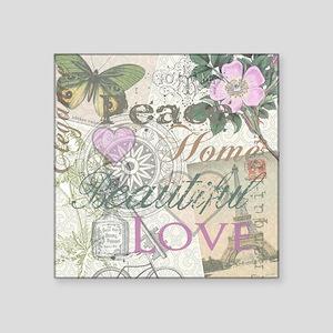 Vintage Peace Home Beautiful Love Designer Collage