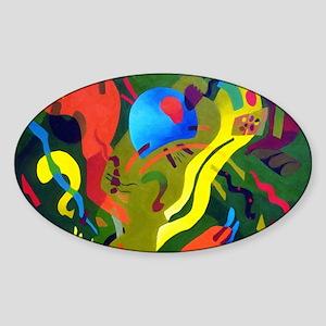 Olive Suspension Sticker (Oval)