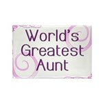 World's Greatest Aunt Rectangle Magnet (10 pack)