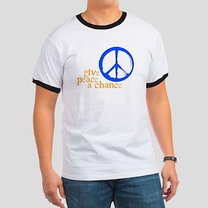 Give Peace a Chance - Blue & Orange T-Shirt