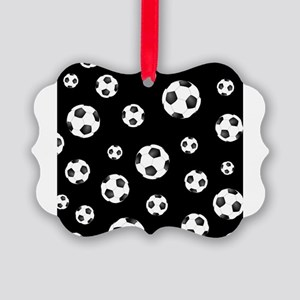 Soccer ball Pattern Picture Ornament