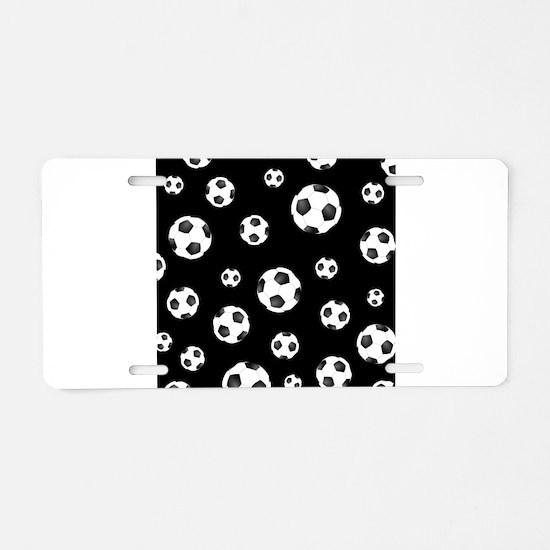 Soccer ball Pattern Aluminum License Plate