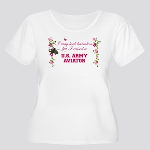 I Raised An Army Aviator Plus Size T-Shirt