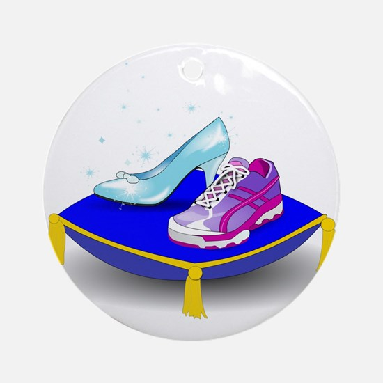 Princess Running Shoes Ornament (Round)