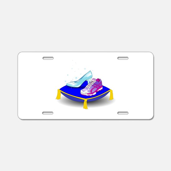 Princess Running Shoes Aluminum License Plate