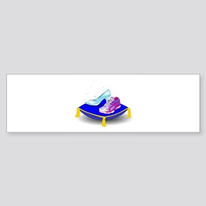 Princess Running Shoes Bumper Sticker