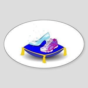 Princess Running Shoes Sticker