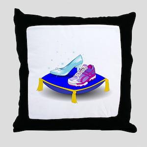 Princess Running Shoes Throw Pillow