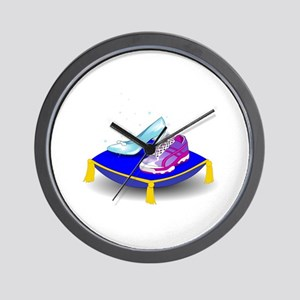 Princess Running Shoes Wall Clock
