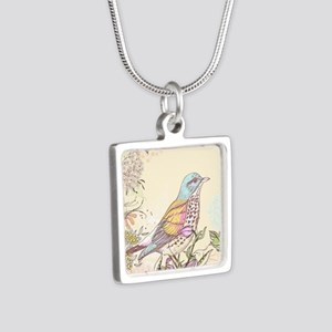 Bird and Flowers Necklaces