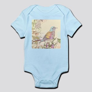 Bird and Flowers Body Suit